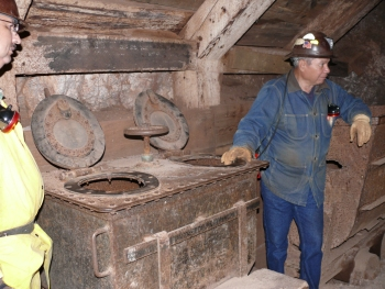 Two Holer in the Copper Queen Mine, Bisbee