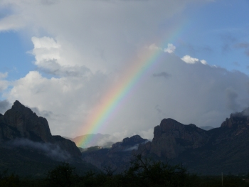 Rainbow over Cave Creek Canyon